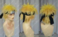 Naruto Uzumaki Naruto Short Anime Costume Cosplay Wig (Need Styled) +cap+Track