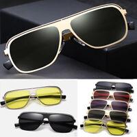 Fashion Vintage Square Frame Outdoor Men Retro Anti UV Sunglasses Driving New