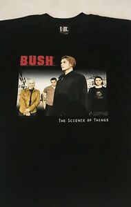 New BUSH - Gavin Rossdale SCIENCE OF THINGS 2000 Tour T - Shirt - Large