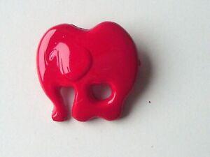 Broche ELEPHANT Rouge neuve