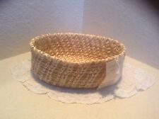 """Mary Pablo PAPAGO BASKET...New Old Stock 8.5"""" long by 3.5"""" high & 6.5"""" wide"""