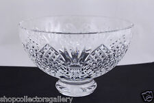 "WATERFORD CRYSTAL ""WEDDING HEIRLOOM"" 8"" FOOTED BOWL - MINT"