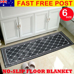 Non-Slip Home Kitchen Floor Mat Machine Washable Rug Door Runner Hallway Carpet