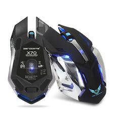 2.4G 2400DPI Sans fil gaming les souris rechargeable batterie 6 boutons Souris