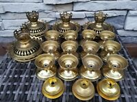 lot 23 Brass Candle Stand cap Smoke Cap Sanctuary Gothic Catholic Altar Church