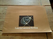 Lancia Gamma Berlina 1976 original sales brochure German text classic retro