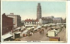 VINTAGE VIEW OF THE MARKET PLACE, BOSTON, LINCOLNSHIRE.