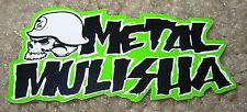 "METAL MULISHA Skull Green Text Sticker 3"" motocross skateboard bike decal skate"