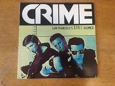 Crime SAN FRANCISCO'S STILL DOOMED LP + INSERT kbd punk avengers flipper