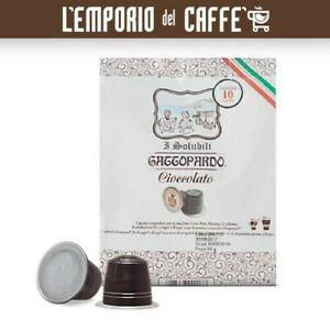 80 Capsules Gattopardo Chocolat Compatibles Système Nespresso No Café borbone