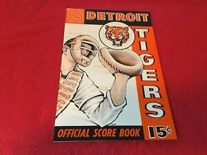 1963 Detroit Tigers vs. Cleveland Indians Baseball Program NEAR MINT