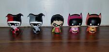 (5) Funko DC Comics Pint Size Heroes HARLEY QUINN X 2 / BATMAN X 2 / ROBIN