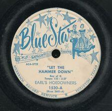 78tk-Square Dance--BLUE STAR 1530 -Earl's Hoedowners