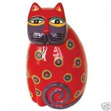 Laurel Burch Red Feline Cat Brights High Gloss Ceramic Figurine #26031 New
