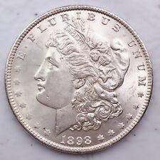 1898 UNC GEM MS+++ MORGAN SILVER DOLLAR 90% SILVER $1 COIN US #Q35