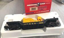 American Flyer 6-48513 CSX Flatcar with Generator, S Gauge