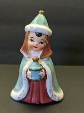 "Vtg Josef Originals Nativity Figurine Wise Man Magi Japan Turquoise Coat 4"""