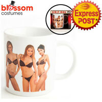 NG2 Strip Mug 3 Girls Heat Activate Tea Novelty Ceramic Coffee Colour Change