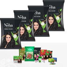Neha Herbal Natürliche Haarfarbe mit Henna Kräutern Amla Pulver Schwarz 100g