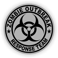 3pc Zombie Outbreak Response Team Hard Hat Sticker / Helmet Label Decal
