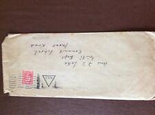 b1u ephemera stamped franked envelope 1940s uk 449 frank 1d