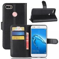 Huawei Y6 Pro 2017 Custodia a Portafoglio Protettiva wallet Cover Case Nero