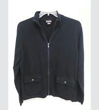 Michael Kors Mens XL Black Sweater Jacket Cotton Long Sleeves Pockets B16