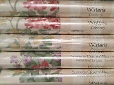 Laura Ashley Wisteria Cranberry Wallpaper Price Per Roll *Free Postage*