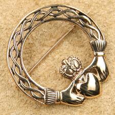 Keltische Claddagh Brosche Bronze Gothic Schmuck - NEU