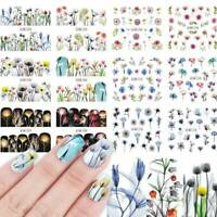 Flower Decor Manicure Water Decal Transfer Nail Art Nail Sticker Slider Colorful