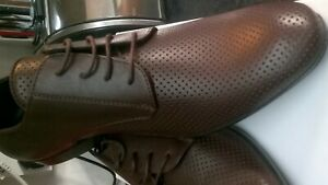 Versace Mens Smart Casual Leather Shoes Boots Trainers Brown Size 7.5 uk 41 EU