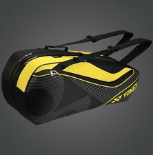 YONEX 6 Tennis/8 Badminton Racket Racquet Bag 8726EX, Black/Yellow, 2017 New