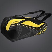 YONEX 6 Tennis/8 Badminton Racket Racquet Bag 8726EX, Black/Yellow, 2017 New