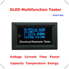 7in1 OLED Multifunction Meter 33V 3A Voltage Current Time Temperature Capacity