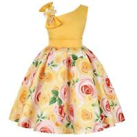 Wedding girl baby kid tutu formal princess dress dresses flower bridesmaid party
