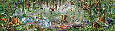 Puzzle Wildlife-en la selva, 33.600 piezas, animales, naturaleza, selva virgen, educa