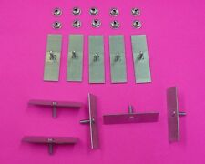 10 Pontiac Body Side Moulding Fasteners 2-1/2 x 3/4 Perforated Clips Bolts 378
