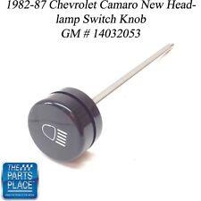 1982-87 Chevrolet Camaro New Headlamp Switch Knob GM 14032053 Each