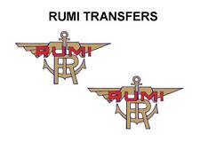 RUMI TANK TRANSFERS DECALS SOLD AS A PAIR DRU2