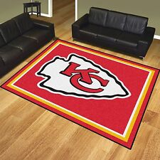 Kansas City Chiefs 8' X 10' Decorative Ultra Plush Carpet Area Rug
