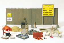 Preiser 17177 Cement Mixer, Construction Fence, Tool, Kit, H0