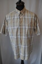 Ben Sherman brown check short sleeve shirt size large casual mod