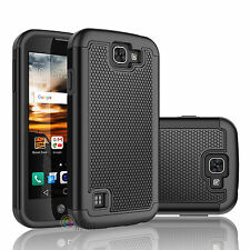 LG Optimus Zone 3 / Rebel LTE / K4 / LS450 / K3 Phone Hybrid Rubber Case Cover