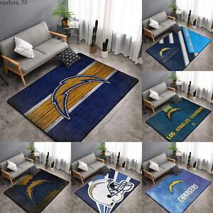 Los Angeles Chargers Rug Anti-Skid Area Rug Living Room Bedroom Floor Mat Carpet