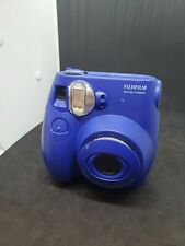 FujiFilm Instax Mini 7S Instant Camera Blue Tested Works  - Fuji With Case