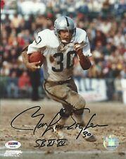 Mark Van Eeghen Signed Raiders 8x10 Photo PSA/DNA COA Autograph Super Bowl XI XV