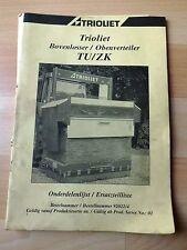 Trioliet Siloschneider  ObenverteilerTU / ZK Ersatzteilliste
