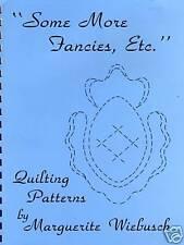 "Marguerite Wiebusch ""SOME MORE FANCIES, ETC."" quilting quilts"