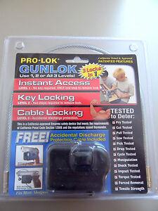 Pro-Lok Gunlok Trigger and Cable  Lock- NIP-Meets CA