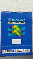 A4 A5 Wire Spiral Wirebound Notebook NotePad Note Book Pad Ruled Feint Office